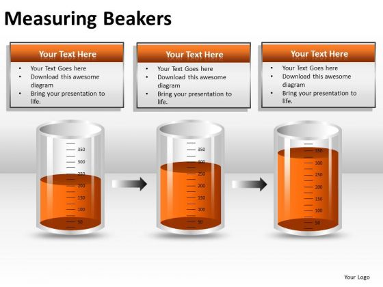 Sales Diagram Measuring Beakers Business Framework Model