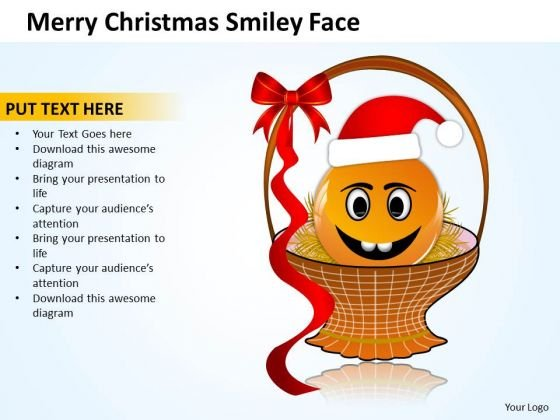 Sales Diagram Merry Christmas Smiley Face Business Cycle Diagram