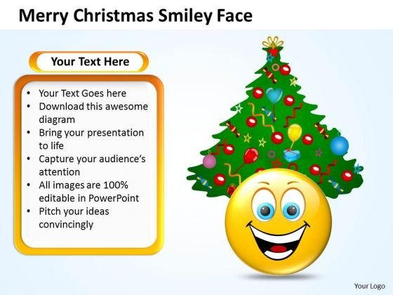 Sales Diagram Merry Christmas Smiley Face Strategy Diagram