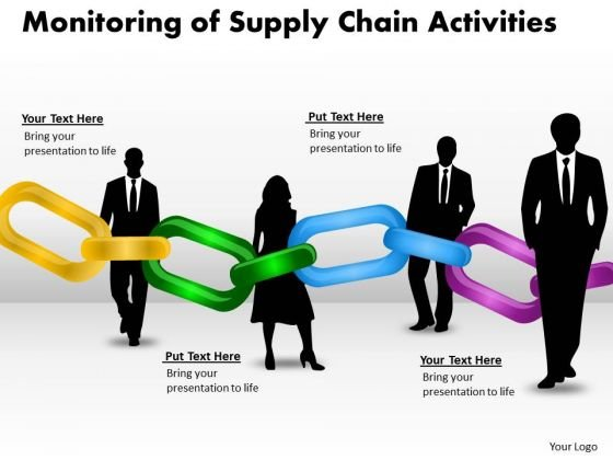 Sales Diagram Monitoring Of Supply Chain Activities Business Diagram