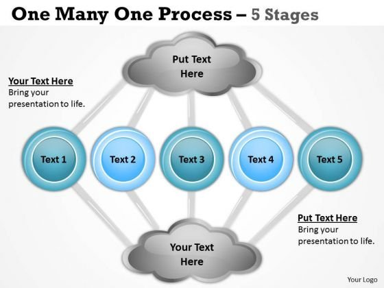 Sales Diagram One Many One Process 5 Stages Business Framework Model