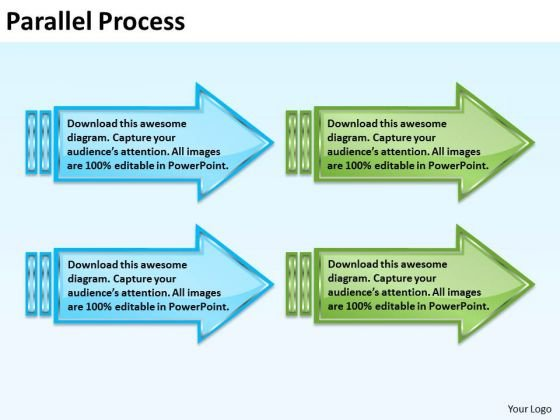 Sales Diagram Parallel Process 2 Consulting Diagram