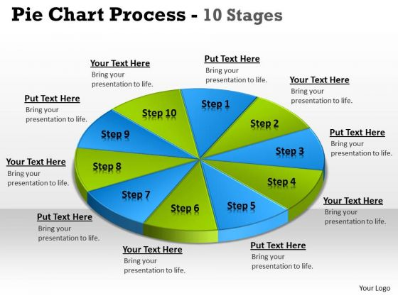 Sales Diagram Pie Chart Process 10 Stages Business Framework Model
