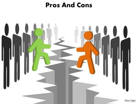 Sales Diagram Pros And Cons Slides Business Diagram