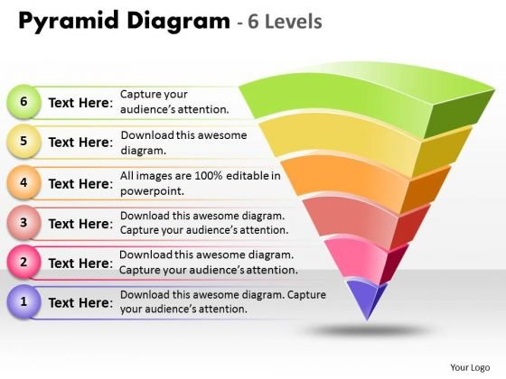 Sales Diagram Pyramid Diagram 6 Levels Of Process Control Marketing Diagram