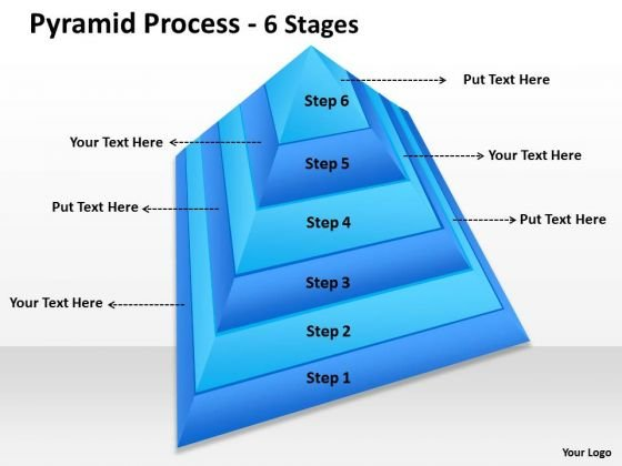 Sales Diagram Pyramid Process 6 Steps Of Process Control Marketing Diagram