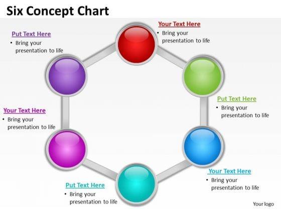 Sales Diagram Six Concept Diagrams Chart Business Finance Strategy Development