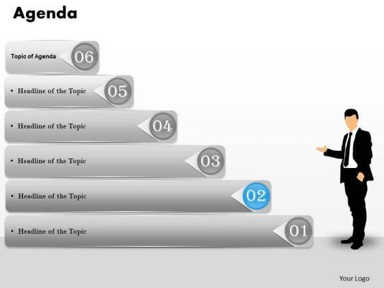 Sales Diagram Six Staged Agenda Sequential Ladder Diagram Marketing Diagram