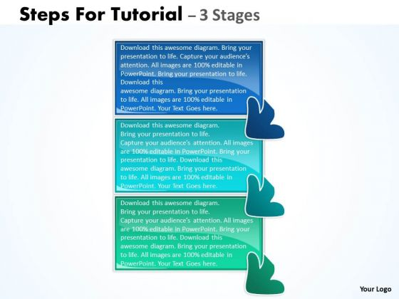 Sales Diagram Steps For Tutorial 3 Stages Strategy Diagram