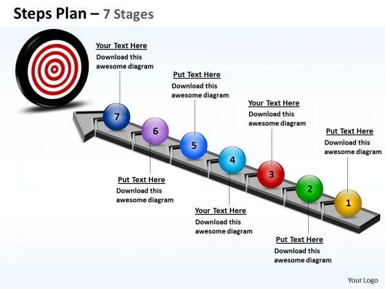 Sales Diagram Steps Plan 7 Stages Business Diagram