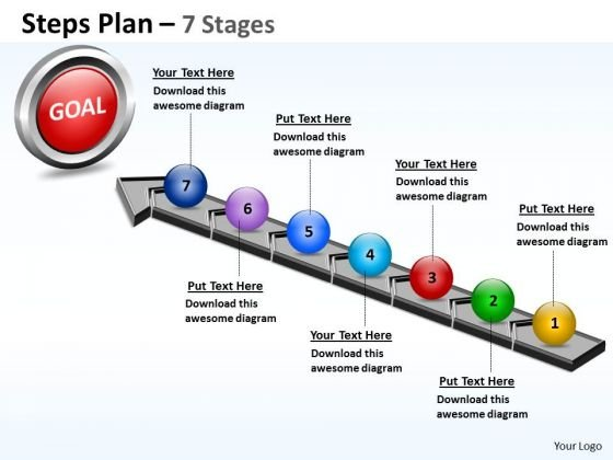 Sales Diagram Steps Plan 7 Stages Style Consulting Diagram