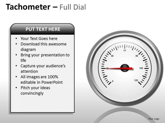 Sales Diagram Tachometer Full Dial Marketing Diagram