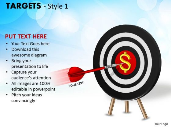 Sales Diagram Targets Style 1 Strategic Management
