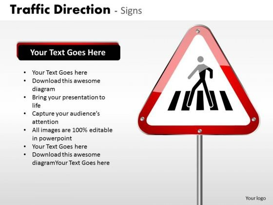 Sales Diagram Traffic Direction Signs Business Cycle Diagram