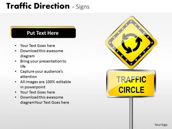 Sales Diagram Traffic Direction Signs Strategy Diagram