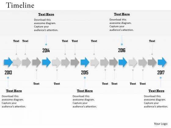 Sales Diagram Unidirectional Arrows For Timeline Roadmap Business Framework Model