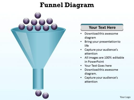 Sales Diagram Use Funnel Process For Slow Output Business Cycle Diagram