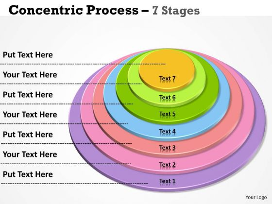 Sales Diagram Vertical Concentric Process With 7 Stages Strategic Management