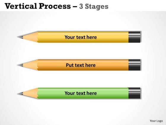 Sales Diagram Vertical Process Success 3 Stages Marketing Diagram