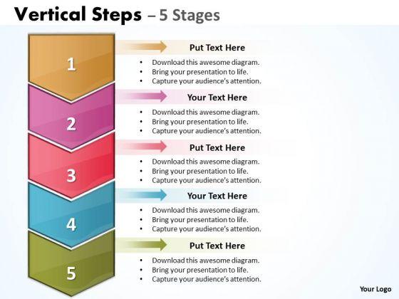 Sales Diagram Vertical Steps Diagram Strategy Diagram