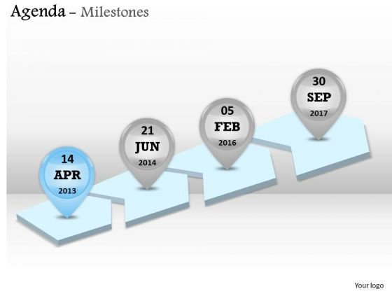 Sales Diagram Year Based Milestone Roadmap Diagram Business Framework Model