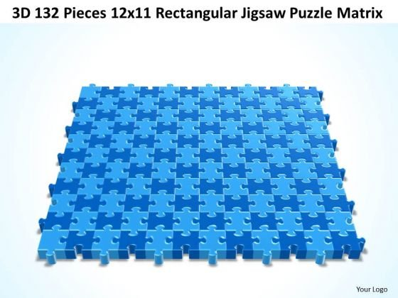 Srategy Diagram 3d 132 Pieces 12x11 Rectangular Jigsaw Puzzle Matrix Business Framework Model