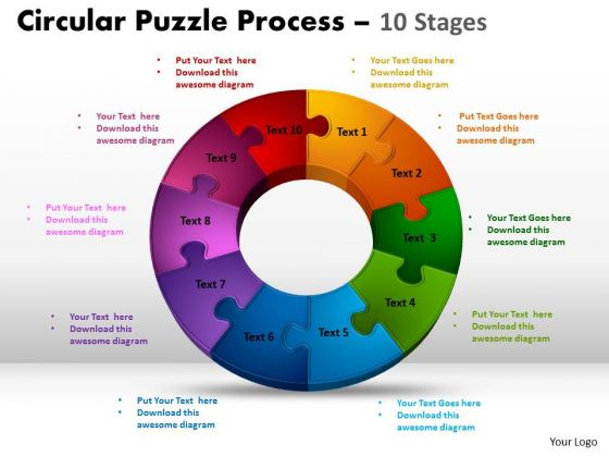 Strategic Management 10 Components Circular Diagram Puzzle Process Marketing Diagram