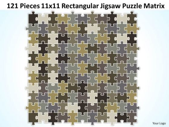 Strategic Management 121 Pieces 11x11 Rectangular Jigsaw Puzzle Matrix Business Diagram