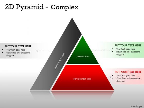 Strategic Management 2d Pyramid Complex Design With 2 Stages Business Diagram
