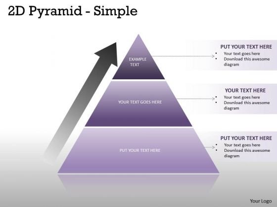 Strategic Management 2d Pyramid With Growth Arrow Strategy Diagram