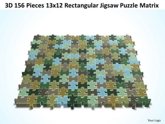 Strategic Management 3d 156 Pieces 13x12 Rectangular Jigsaw Puzzle Matrix Marketing Diagram