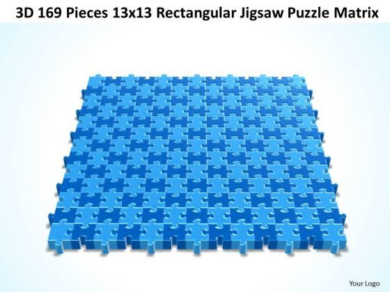 Strategic Management 3d 169 Pieces 13x13 Rectangular Jigsaw Puzzle Matrix Business Diagram