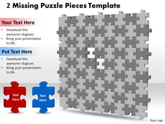Strategic Management 3d 9x9 Missing Puzzle Piece Business Diagram