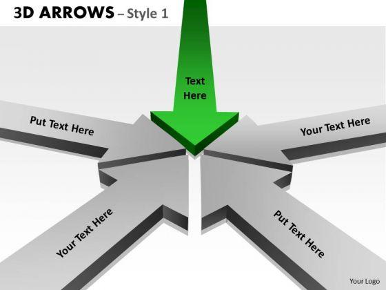 Strategic Management 3d Arrows Styli Marketing Diagram