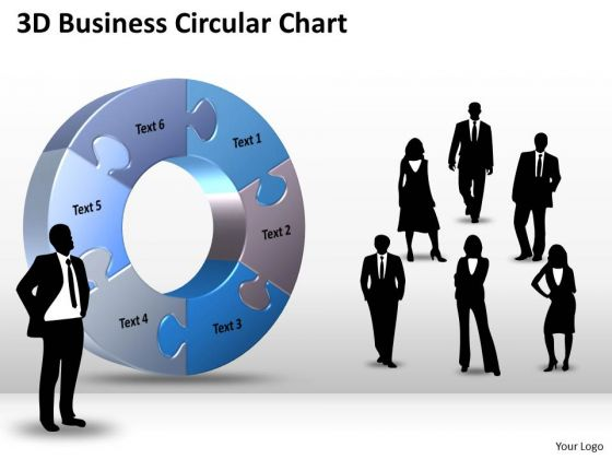 Strategic Management 3d Business Circular Chart Diagram PowerPoint Templates Sales Diagram