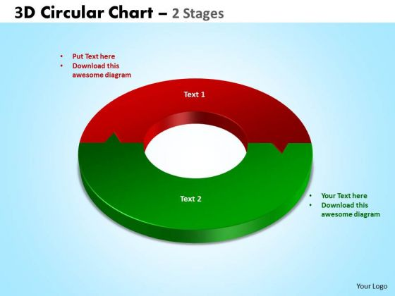 Strategic Management 3d Circular Chart 2 Stages Business Diagram