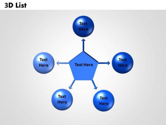 Strategic Management 3d Circular List Sales Diagram