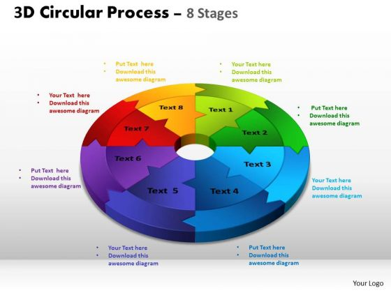 Strategic Management 3d Circular Process Cycle Diagram Ppt Templates Business Diagram