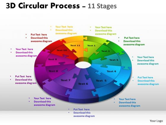Strategic Management 3d Circular Process Cycle Diagrams Ppt Templates Business Diagram