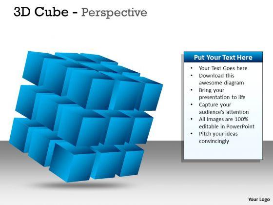 Strategic Management 3d Cube Perspective Diagram Ppt Marketing Diagram