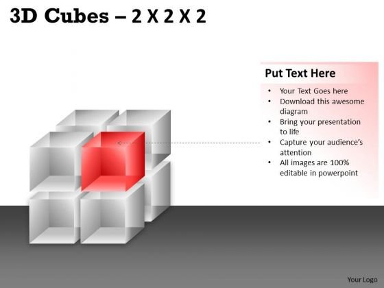 Strategic Management 3d Cubes 2x2x2 Business Diagram