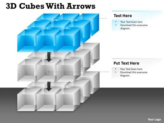 Strategic Management 3d Cubes With Diagram Arrows Ppt Consulting Diagram