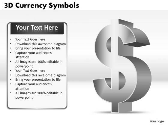 Strategic Management 3d Currency Symbols Business Diagram