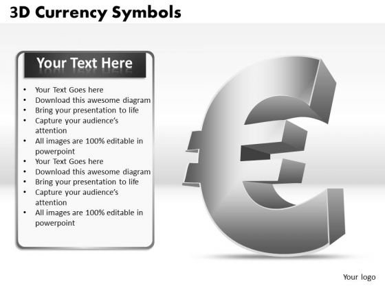 Strategic Management 3d Currency Symbols Strategy Diagram