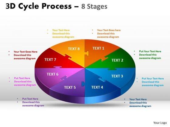 Strategic Management 3d Flow Chart Diagram Style Business Cycle Diagram