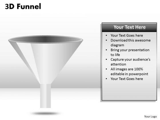 Strategic Management 3d Funnel Design Diagram Business Cycle Diagram