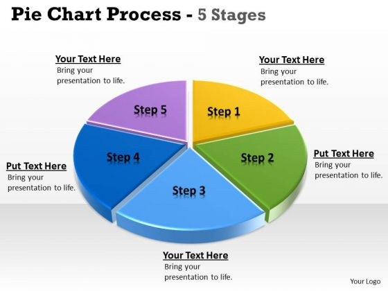 Strategic Management 3d Illustration Of Pie Chart Data 1 Business Cycle Diagram