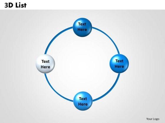 Strategic Management 3d List Sales Diagram