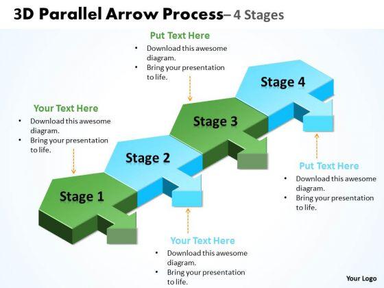 Strategic Management 3d Parallel Arrow Process Business Framework Model