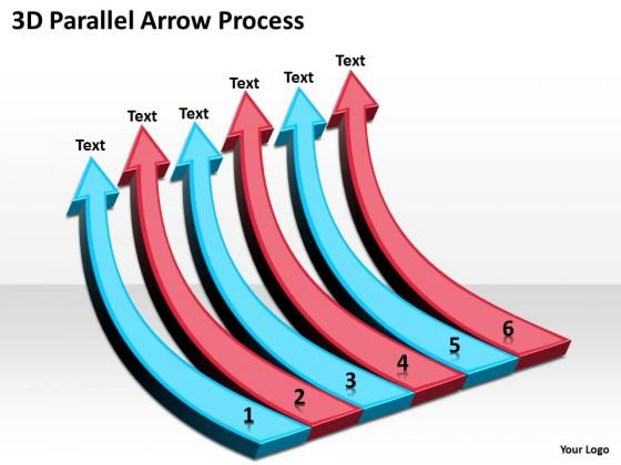 Strategic Management 3d Parallel Arrow Process Consulting Diagram